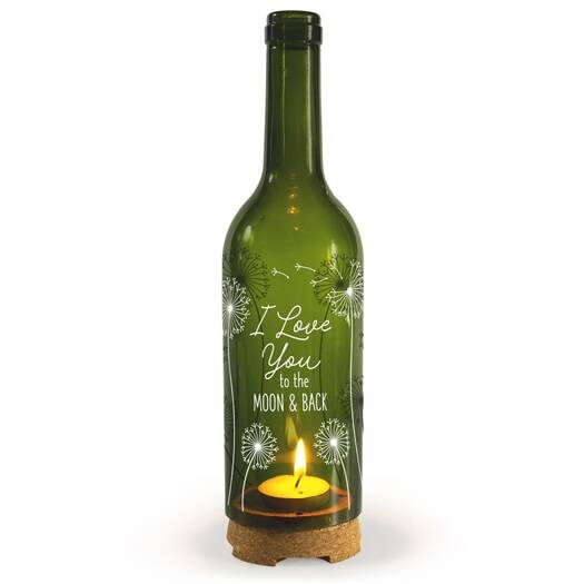 I love you - wine candle