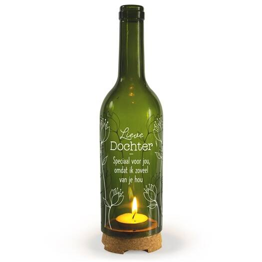 Dochter - wine candle