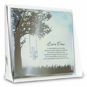 Lieve oma - silver silhouette
