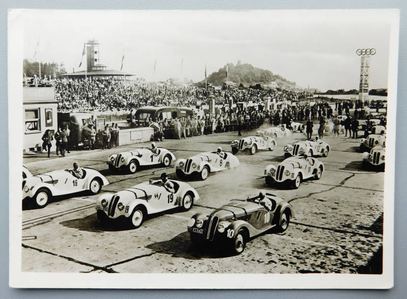 Postcard SS Grand Prix in Germany - 1938 Nürbugring