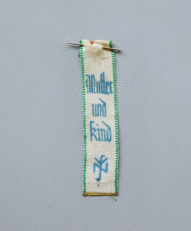 Third Reich Mother & Child NSV blue and white silk ribbon