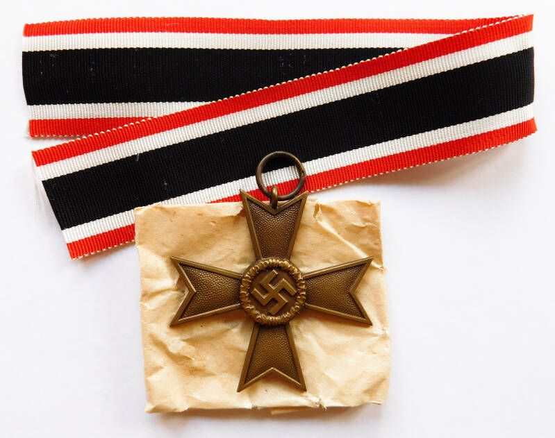 2nd Class War Merit Cross with Paper Bag
