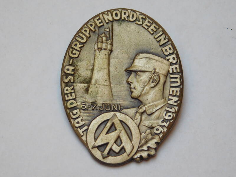 SA Tag Gruppe Nordsee Badge, Bremen June 6.-7. June 1936