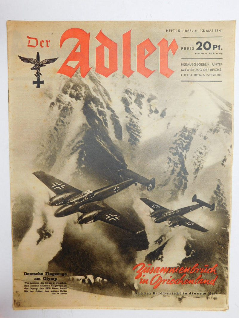 Magazine Luftwaffe Der Adler May 1941