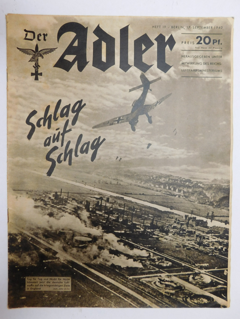 Magazine Luftwaffe Der Adler September 1940