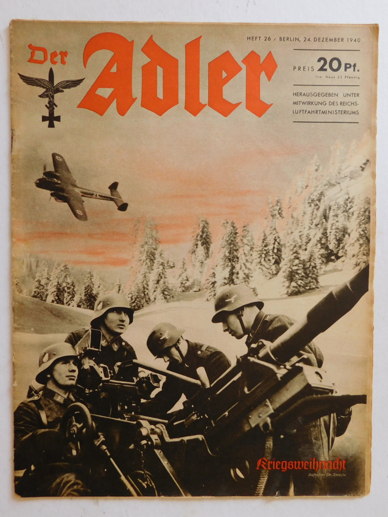 Magazine Luftwaffe Der Adler December 1940