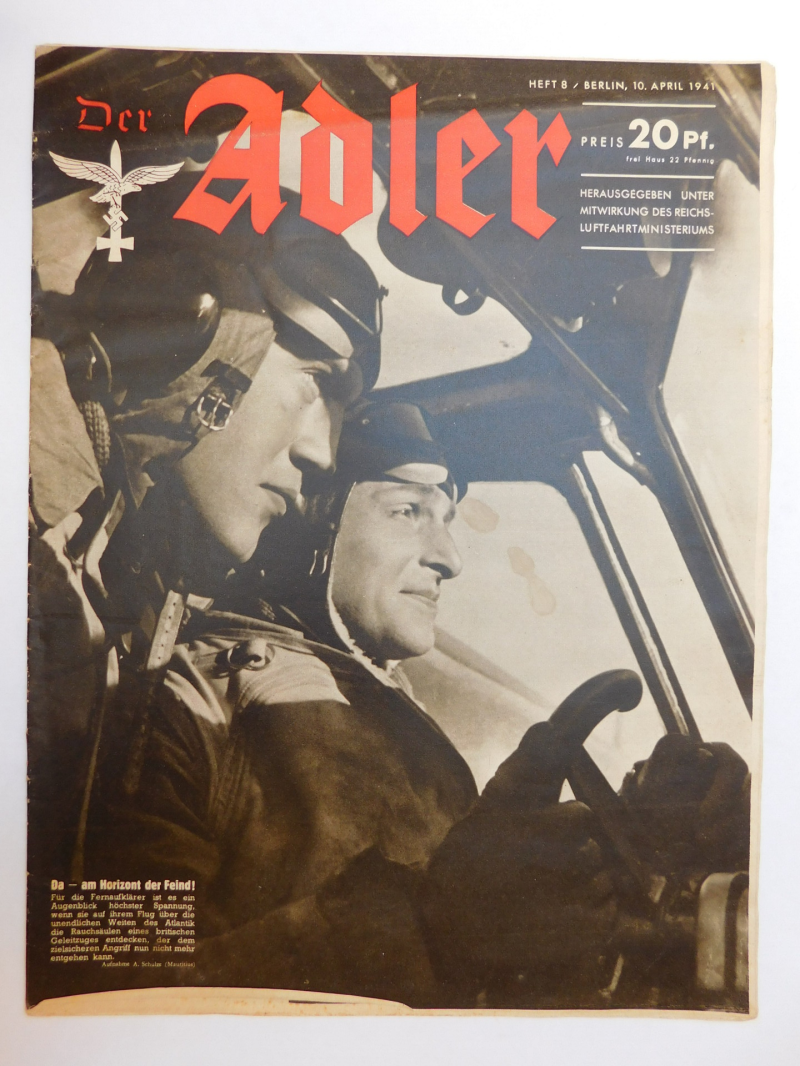 Luftwaffe Magazine Der Adler 10. April 1941