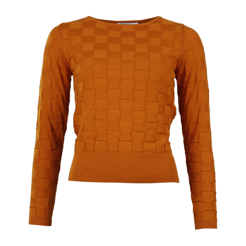 Froy & Dind - Trui Rina Pumpkin Spice - roestbruin