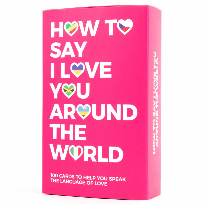 How to say I love you round the world card set