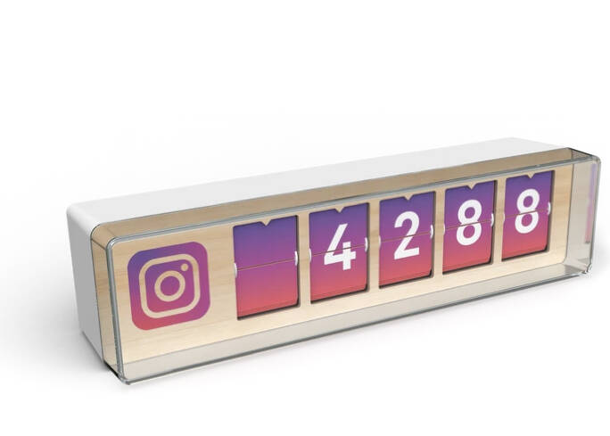 Real Time Instagram Counter 5-digit
