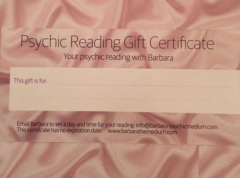 Gift certificate Trancemedium reading