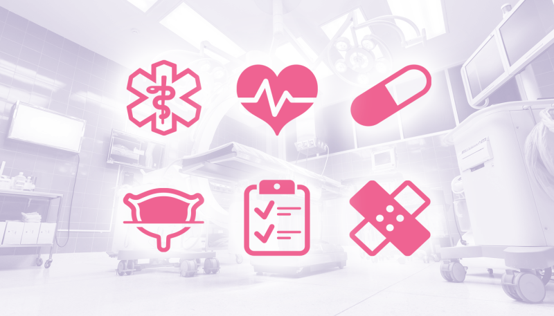 Icon family for SaaS solutions in healthcare