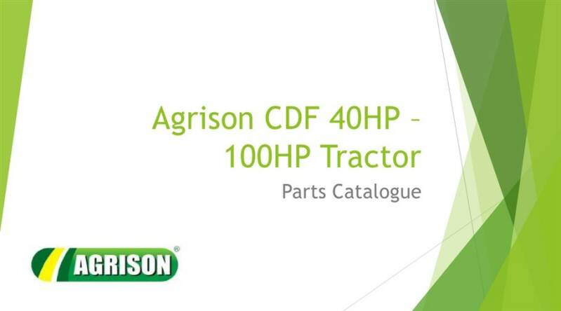 Agrison CDF 40 HP to 100 HP Parts Manual