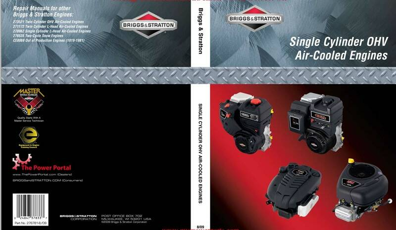 Briggs and Stratton Single-Cylinder-OHV-276781 Service Manual