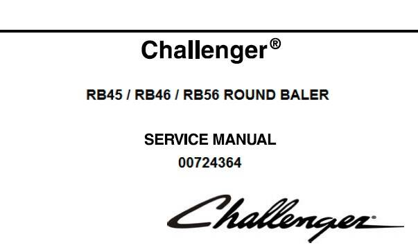 CH Challenger RB45, RB46, RB56 Round Baler Service Repair Manual SD