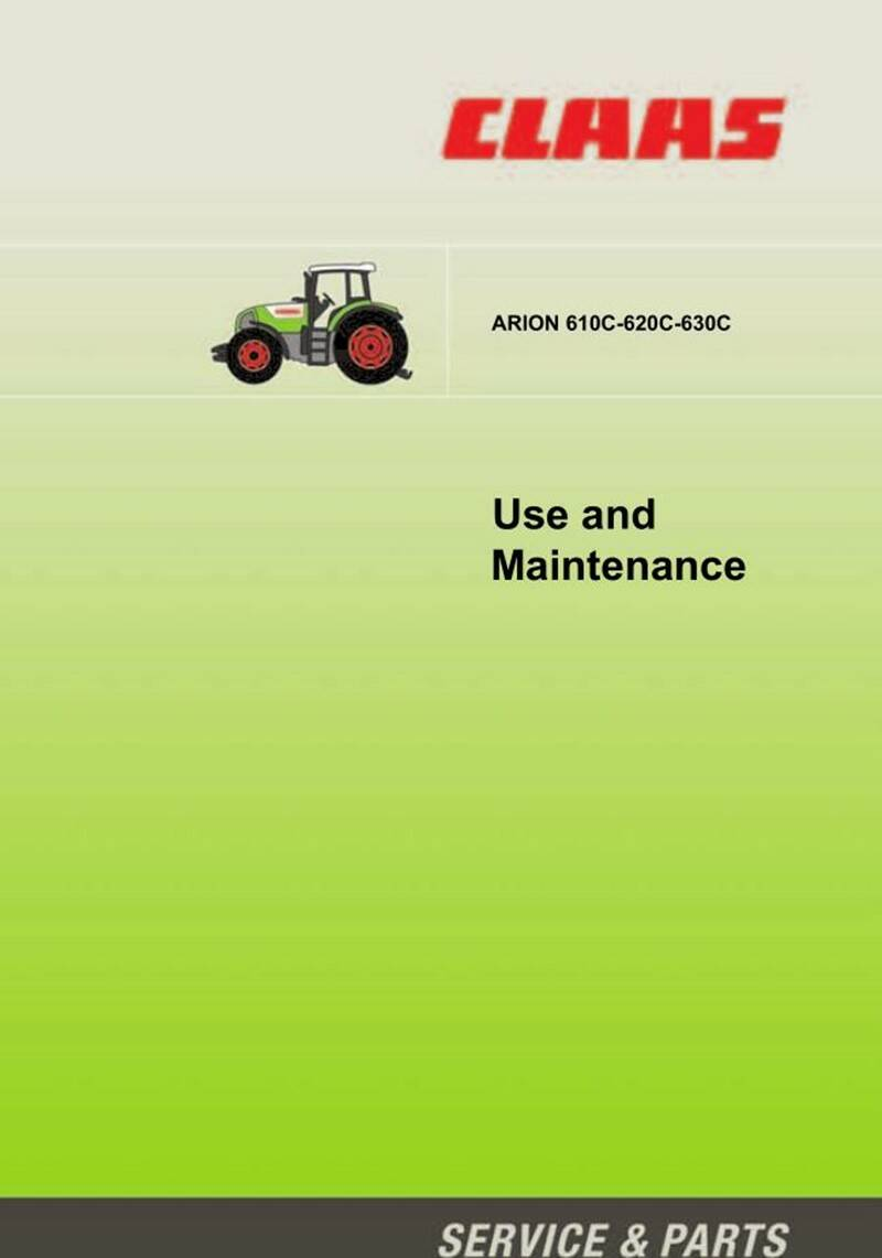 Claas Arion 610C 620C 630C Tractor opps Manual