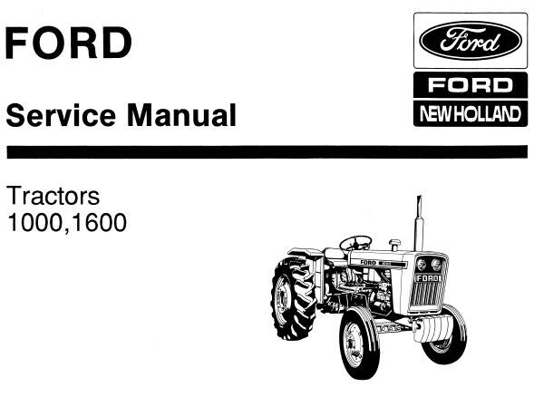 NHTR Ford New Holland 1000, 1600 Tractors Service Repair Manual SD