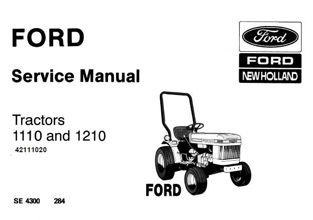 NHTR Ford New Holland 1110, 1210 Tractors Service Repair Manual SD