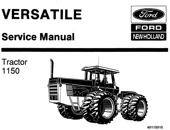 NHTR Ford New Holland 1150 Tractor (Versatile) Service Repair Manual SD