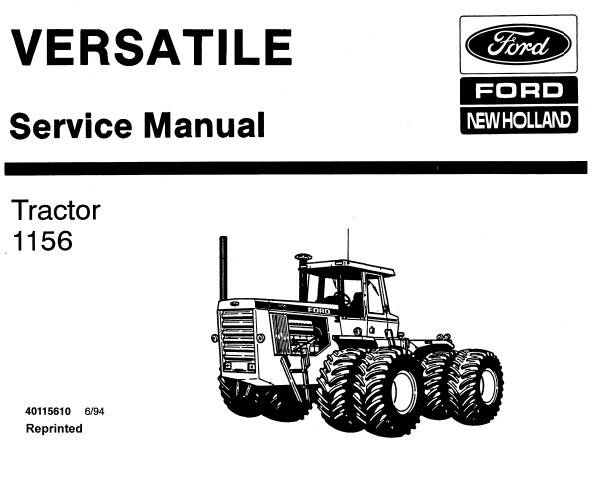 NHTR Ford New Holland 1156 Tractors (versatile) Service Repair Manual SD
