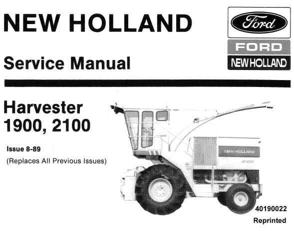 NHTR Ford New Holland 1900, 2100 Harvester Service Repair Manual SD