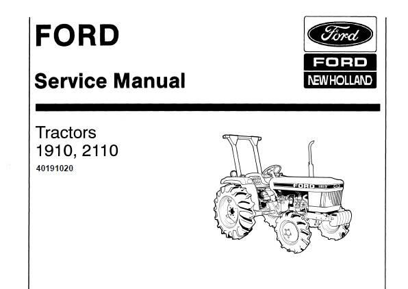 NHTR Ford New Holland 1910 , 2110 Tractors Service Repair Manual SD