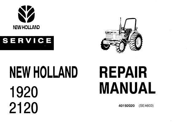 NHTR Ford New Holland 1920, 2120 Tractors Service Repair Manual SD
