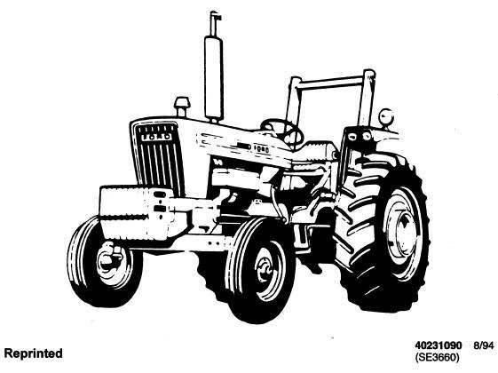 NHTR Ford New Holland 2600, 3600, 4100, 4600, 5600, 6600, 6700, 7600, 7700 Tractors Service Repair Manual SD