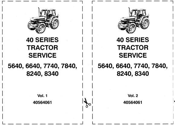NHTR Ford New Holland 40 Series 5640, 6640, 7740, 7840, 8240, 8340 Tractor Service Repair Manual SD