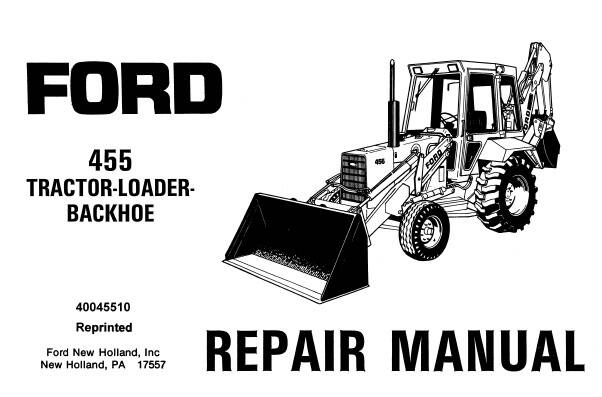 NHTR Ford New Holland 455 Tractor Loader Backhoe Service Repair Manual SD