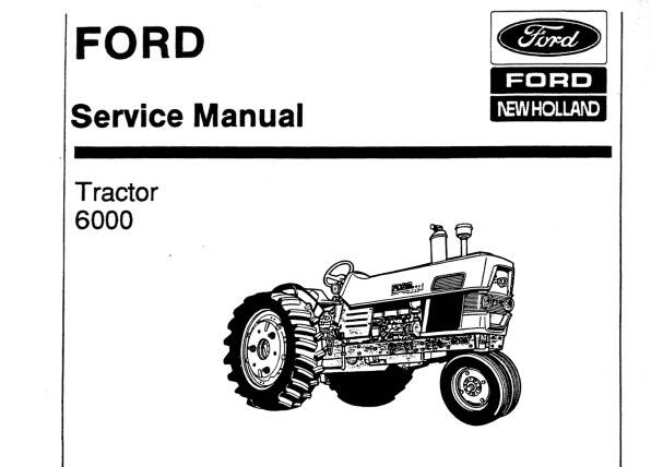 NHTR Ford New Holland 6000 Tractor Service Repair Manual SD