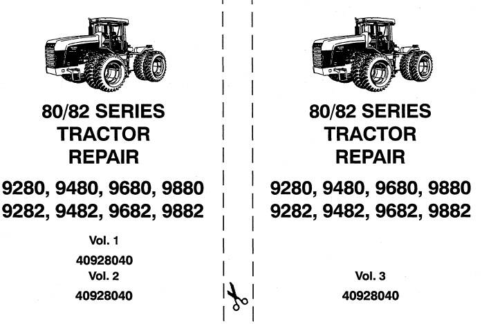 NHTR Ford New Holland 80 , 82 Series (9280, 9480, 9680, 9880, 9282, 9482, 9682, 9882) Tractors Service Repair Manual SD