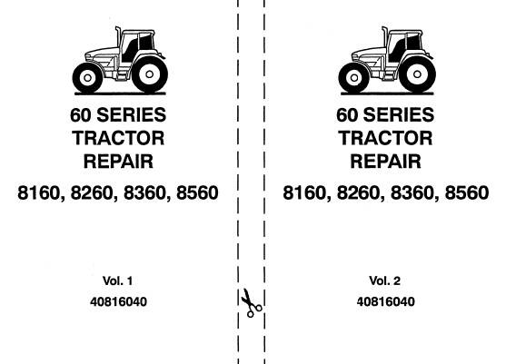 NHTR Ford New Holland 8160 , 8260 , 8360 , 8560 Tractors Service Repair Manual SD
