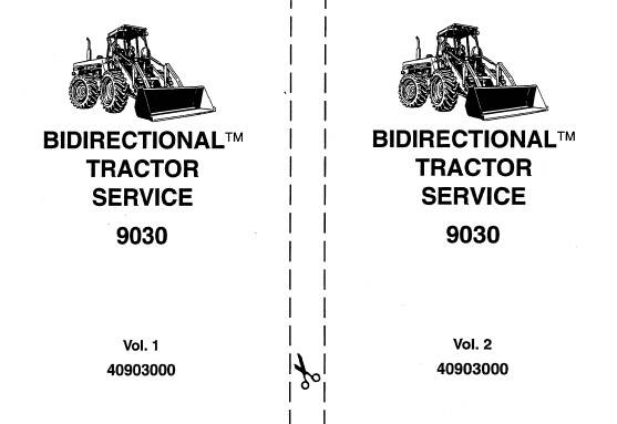 NHTR Ford New Holland 9030 Bidirectional Tractor Service Repair Manual SD
