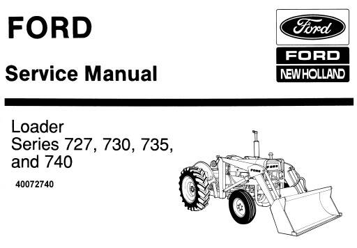 NHTR Ford New Holland Series 727, 730, 735 & 740 Loader Service Repair Manual SD