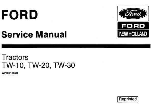 NHTR Ford New Holland TW-10, TW-20, TW-30 Tractors Service Repair Manual SD