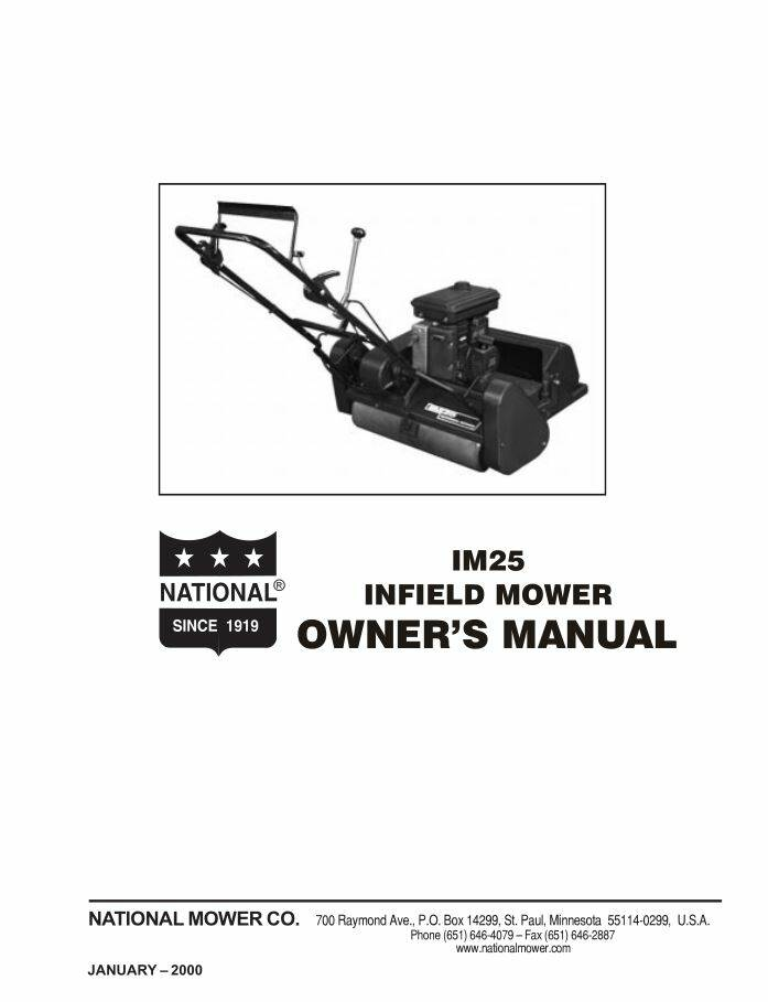 IM25 Owners manual