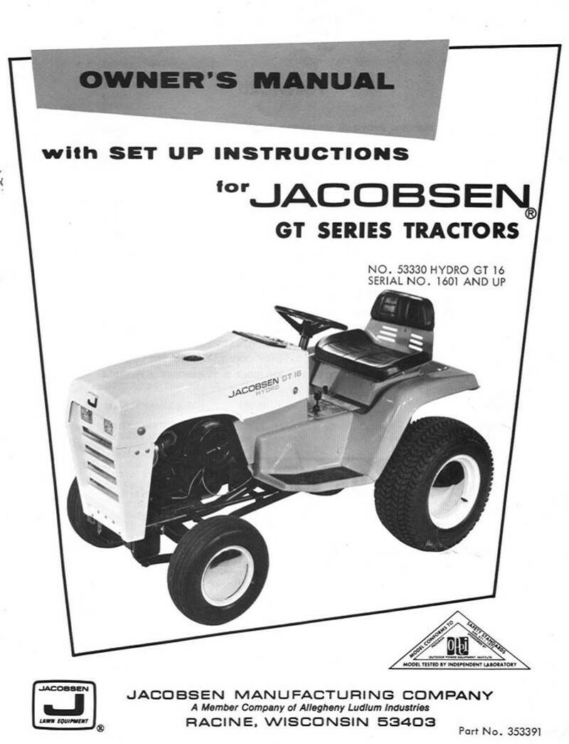 Jacobsen-GT16-hydro-53330-owner-manual