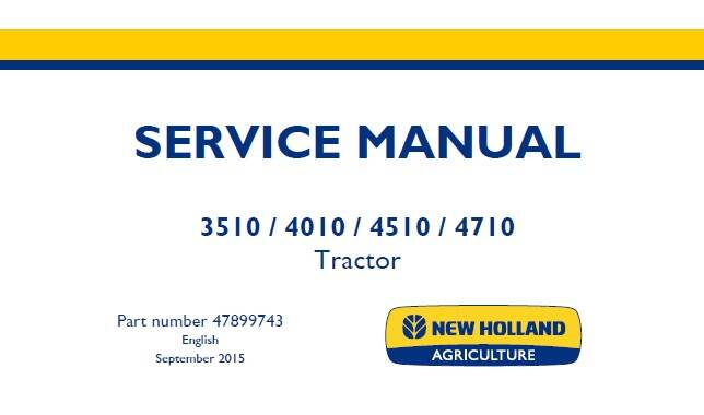 NHTR New Holland 3510, 4010, 4510, 4710 Tractor Service Repair Manual SD