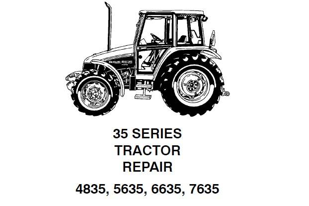 NHTR New Holland 4835 , 5635 , 6635 , 7635 Tractor (35 Series) Service Repair Manual SD