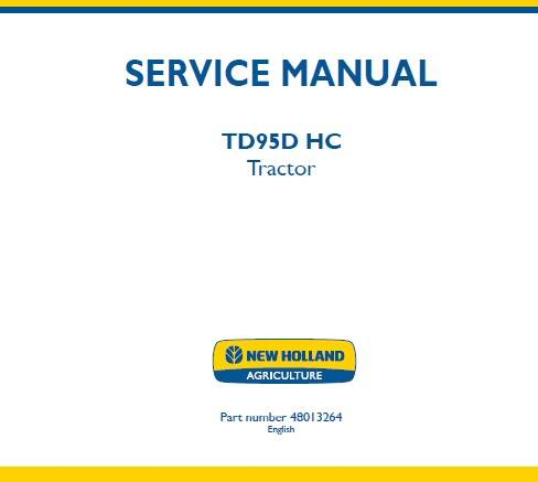 NHTR New Holland TD95C HC Tractor Service Repair Manual SD