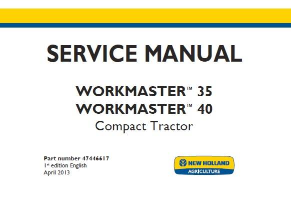 NHTR New Holland Workmaster 35 , Workmaster 40 Compact Tractor Service Repair Manual SD