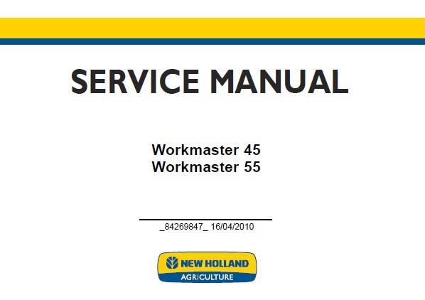 NHTR New Holland Workmaster 45 , Workmaster 55 Tractor Service Repair Manual SD