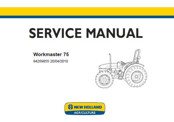 NHTR New Holland Workmaster 75 Tractor Service Repair Manual SD