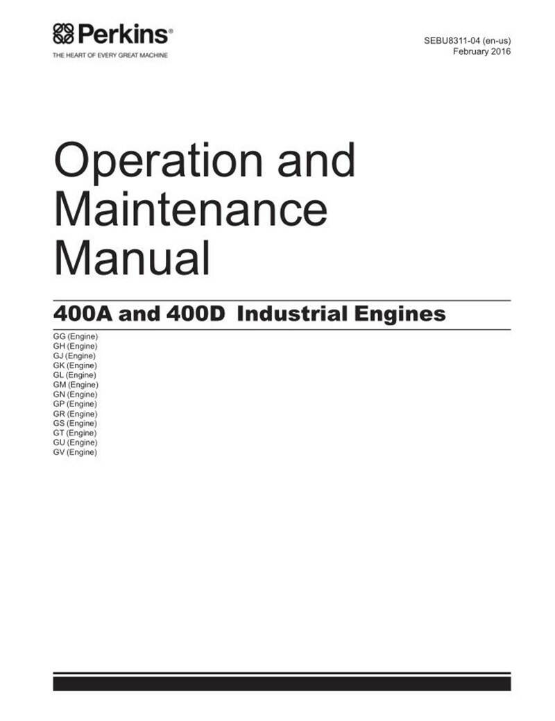 PERKINS 400A 400D Industrial Series Engine Opps and Maintaince Manual