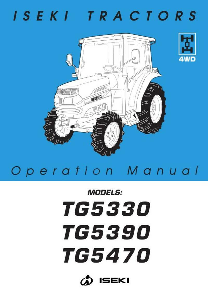TG5470 IQ Safety and Opps manual