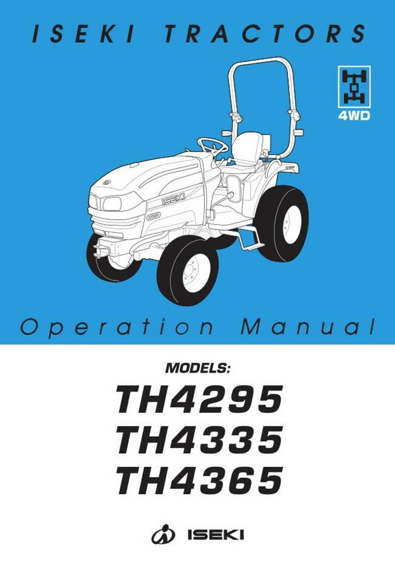 TH4295 HST operation manual