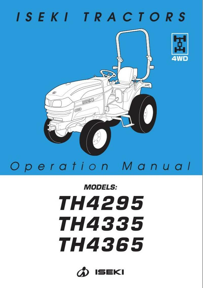 TH4365 HST operation manual