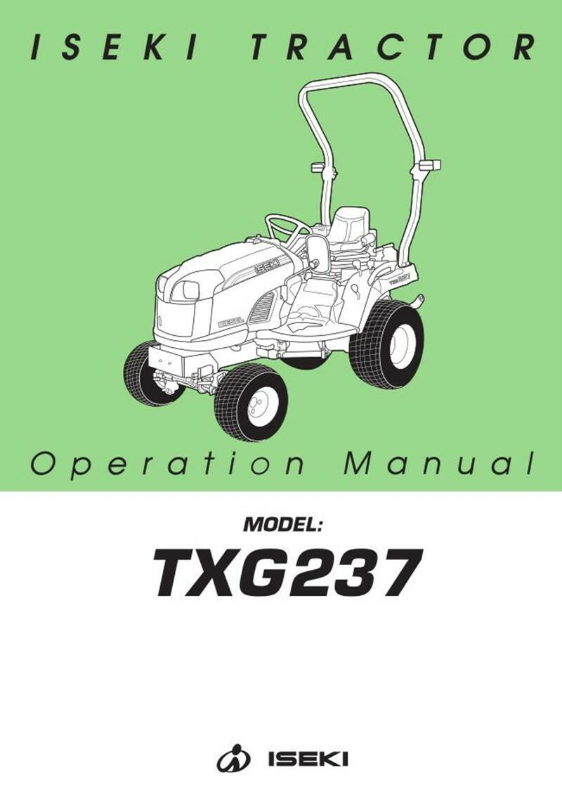 TXG237 Safety and operation manual