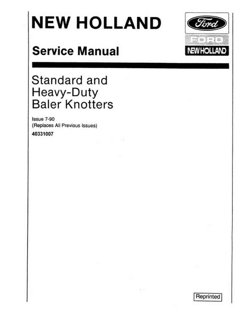 B2 New Holland Standard and Heavy Duty Knotters Baler Operators and Service Manual